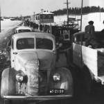 Karjalaisia evakkomatkalla vuonna 1940.