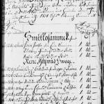 Maaherran määräys vuodelta 1734. Smittosamme-otsikon alla Jöran Jakobson (Yrjänä Jaakonpoika), Walborg Henriksdotter (Valpuri Heikintytär) ja Malin Mattsdotter (Maalina Matintytär) määrätään Seiliin. Kustakin pitää maksaa 20 hopeataalaria.
