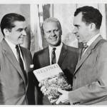 Republikaaneja kaikki: Gerald Ford (kesk.)ja Richard Nixon nousivat myöhemmin Yhdysvaltain presidenteiksi.