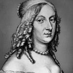 Kristiina on 23-vuotias tässä vuonna 1649 tehdyssä muotokuvassa. Hänen jälkeensä Ruotsia on hallinnut yksi kuningatar. Seuraava on Victoria.