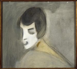 Helene Schjerfbeckin guassiteosten sarjan Fantasia, skannattu kuva.