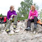 Niina ja Paula eivät tunteneet toisiaan ennen Grönlannin-vaellusta. Paula treenasi matkaa varten näissä Tampereen Pyynikin maisemissa.