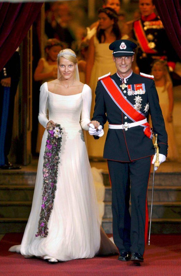 Norjan kruununprinssi Haakon ja Mette-Marit vihittiin elokuussa 2001.