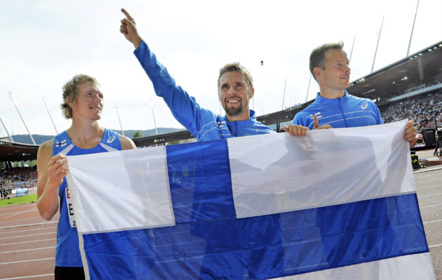 Antti Ruuskanen, Lassi Etelätalo ja Tero Pitkämäki.