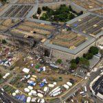 Pentagoniin osunut esine lävisti rakennuksen kolme ulointa rengasta.