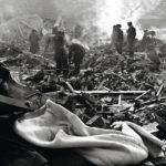 Lapuan patruunatehtaan räjähdys oli tuhoisa. Patruunatehtaan lataamo muuttui rauniokasaksi.