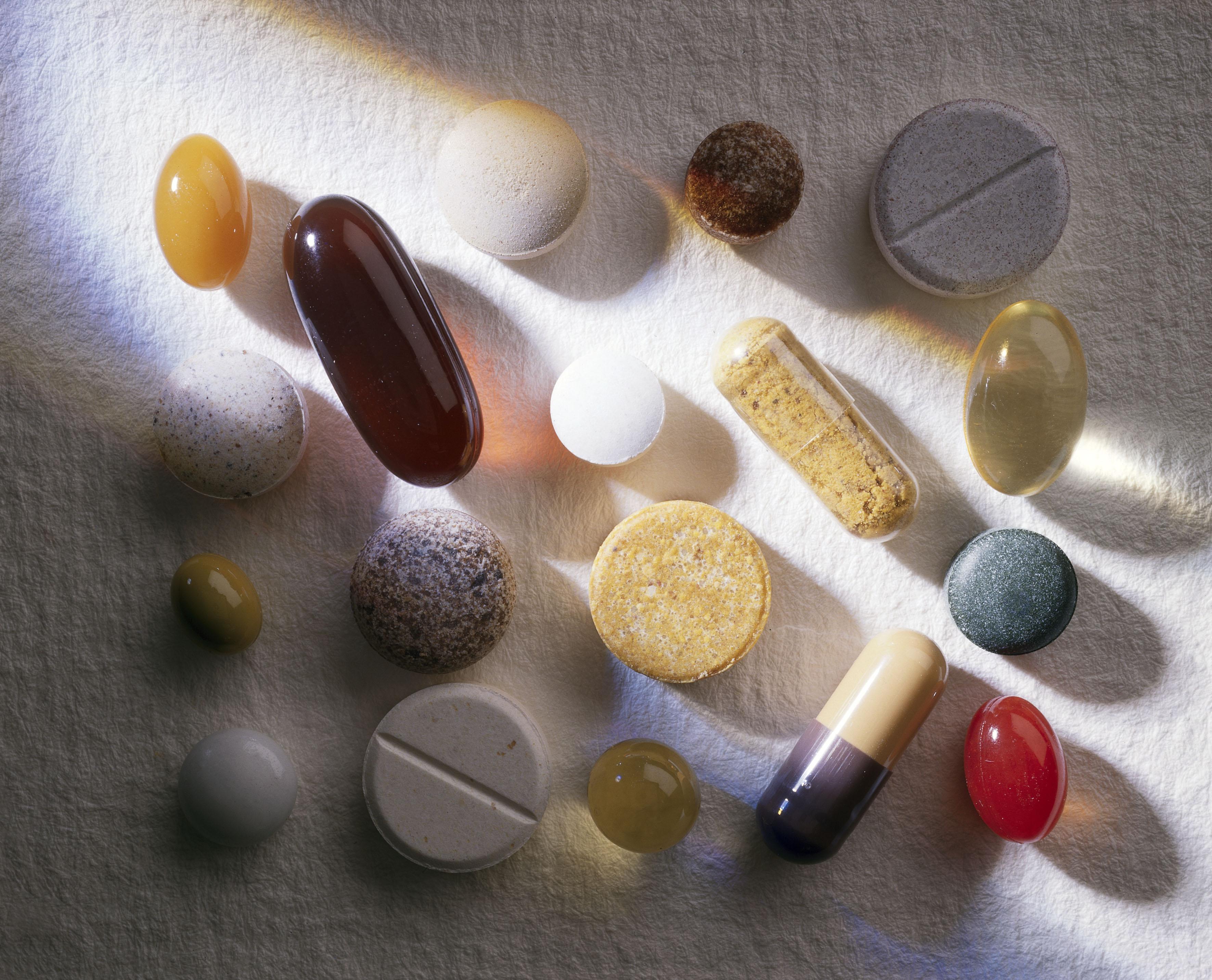 Vitamiinipillereitä