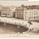 Kirjeiden joukosta löytynyt vanha postikortti Bayonnesta. ©GYLDÉNIEN KOTIARKISTO