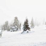 Talvella sumupilvet saattavat peittää taivasta koko päivän.