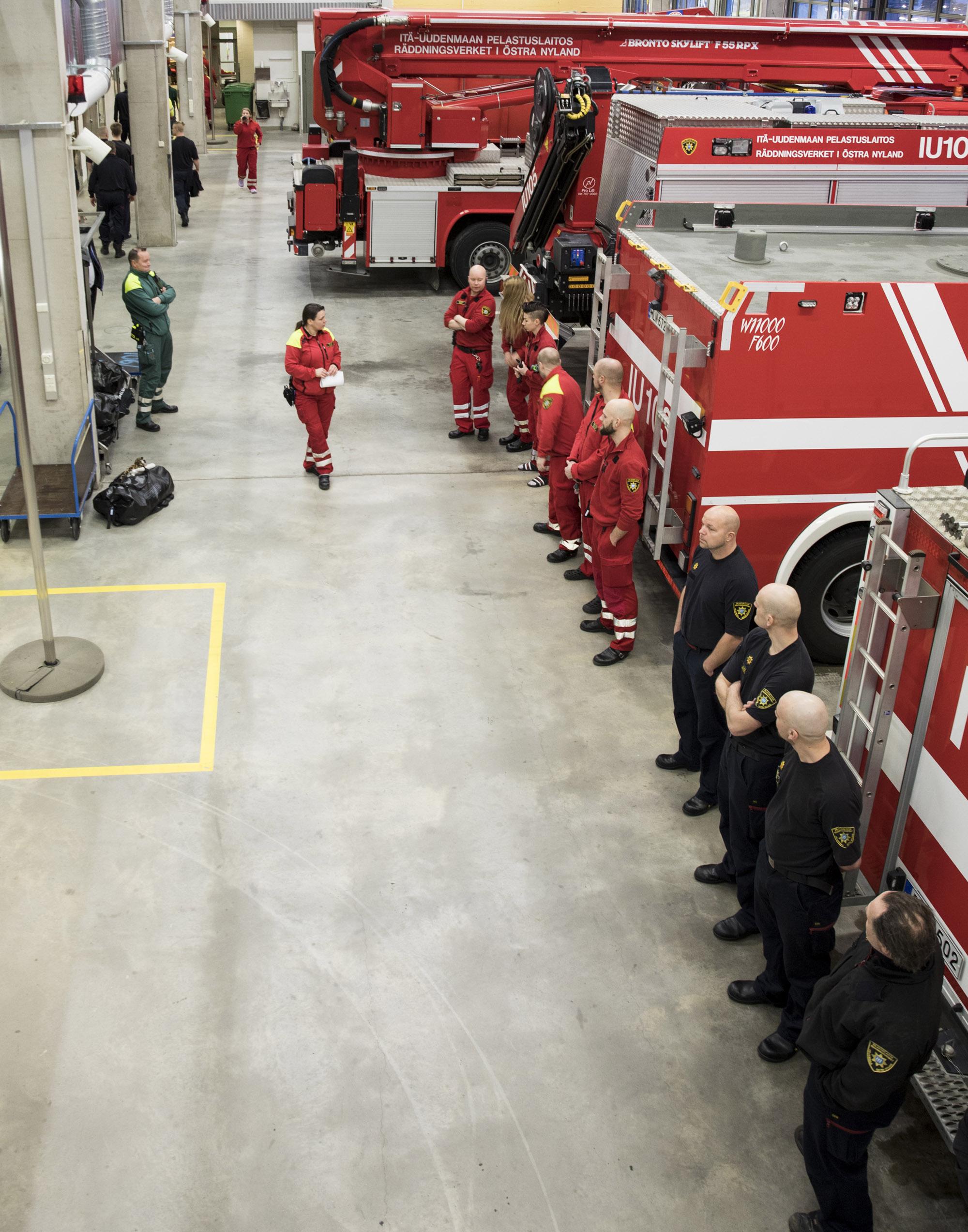 Uusi työvuoro alkaa Itä-Uudenmaan pelastuslaitoksella.
