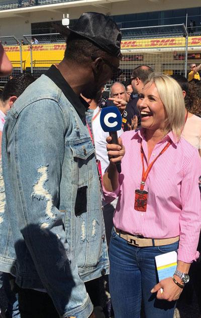 Austinissa haastattelussa pikajuoksutähti Usain Bolt, joka rakastaa nopeita autoja.
