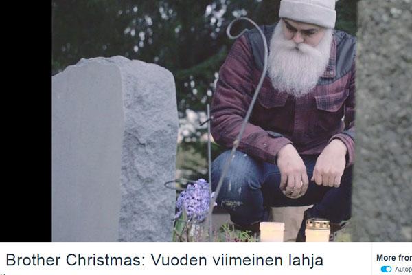 Brother Christmas järjesti hautakiven köyhälle perheelle.
