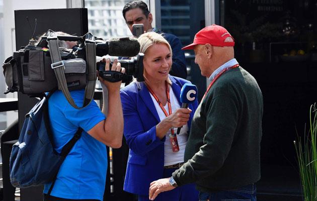 Haastattelussa F1-legenda Niki Lauda.