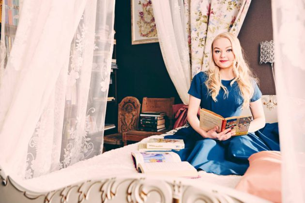 Juhlaprinsessa Milja Korpela tekee unelmatyötään.