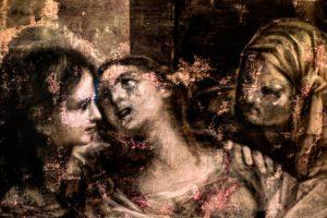 Maalaus kolmesta naisesta