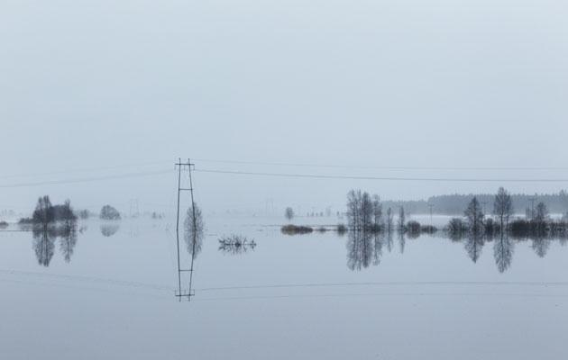 Tulvat ovat keväinen riesa pohjanmaalla.