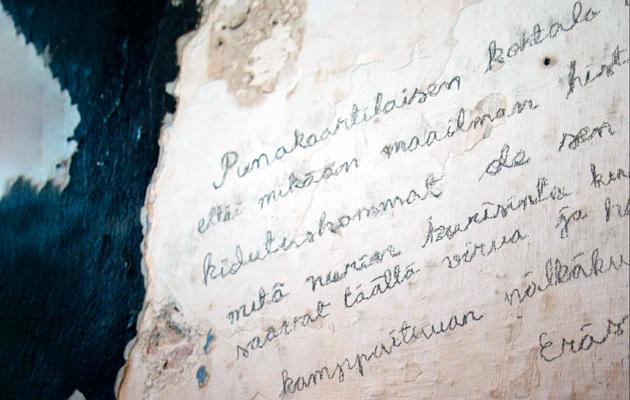 Suomenlinnan vankileiristä vankien laatimia kirjoituksia