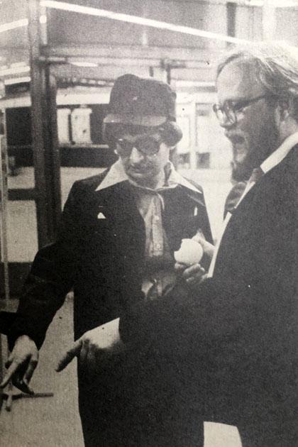 Seuran arkistosta löytyvän artikkelin kuvitusta Helsingin metrosta 1982.