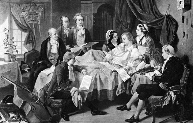 Mozartin kuolinvuode