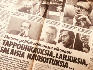 Seuran arkistosta löytynyt vuoden 1982 artikkeli kertoo Helsingin metron alkuvaiheista.