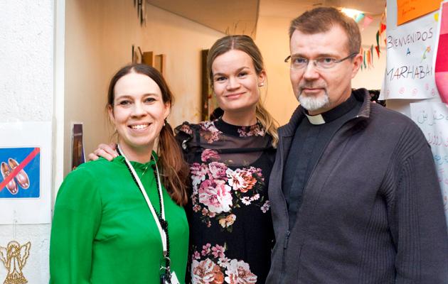 Maria Haapavaara, Eva Wäljas ja pastori Jukka Kuusisto