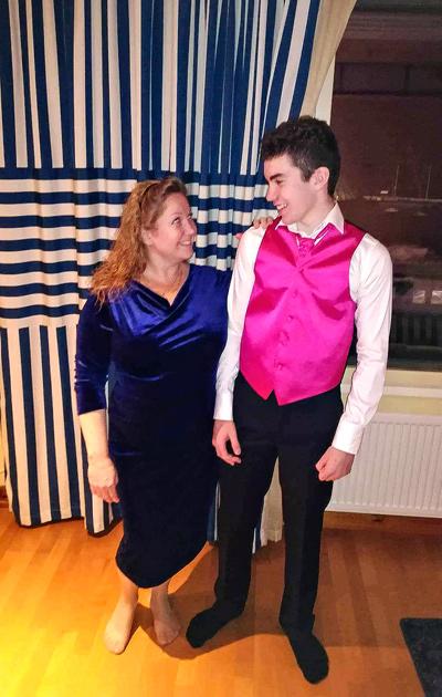 Virpi ja hänen poikansa Markus