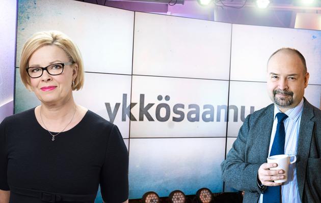 Ykkösaamun Jari Korkki ja Seija Vaaherkumpu: aina ajassa kiinni