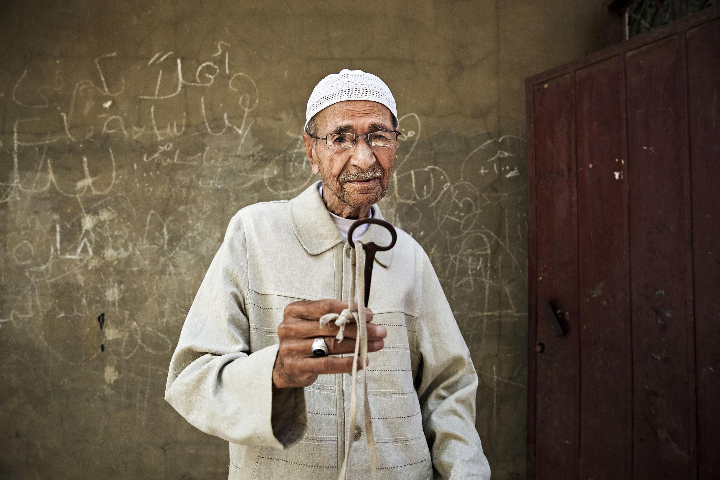 Abu Saeidilla, 93, on avain, mutta ei kotia. Hänet ajettiin Palestiinasta kun Israel syntyi vuonna 1948.