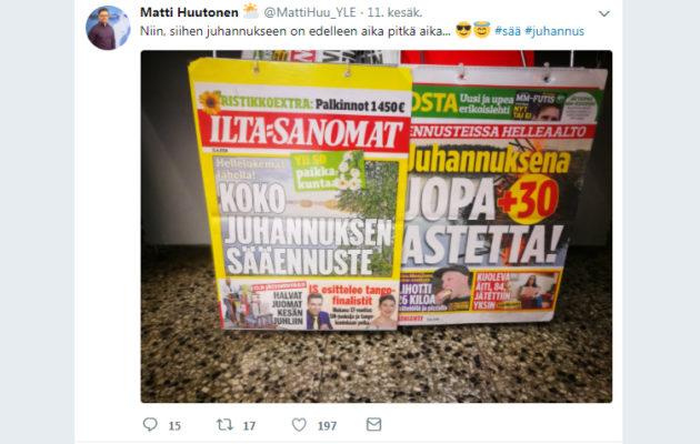joulun sää 2018 iltasanomat Nyt se on varmaa: Juhannus ei ole helteinen – ei edes yli 20  joulun sää 2018 iltasanomat