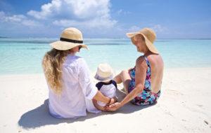 Matkakohteella on väliä, kun kolme sukupolvea lomailee yhdessä.