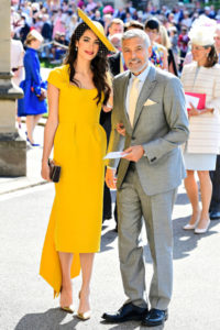Näyttelijä George Clooney ja Amal Clooney