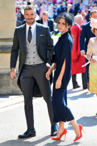 Ex-jalkapalloilija David Beckham ja Victoria-vaimo.