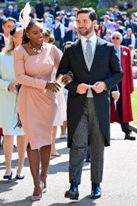 Tennistähti Serena Williams puolisonsa Alexis Ohanianin kanssa.