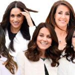 Pitkät, tummat hiukset ovat Marien, Sofian, Maryn, Catherinen ja Meghanin tavaramerkki. Kuningashuoneitten katseenvangitsijat ovat kuin viisi marjaa.