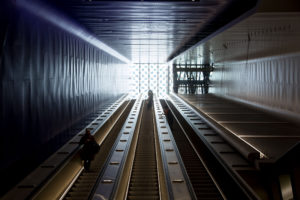 Urheilupuiston metroaseman liukuportaat eivät ole Suomen pisimmät.