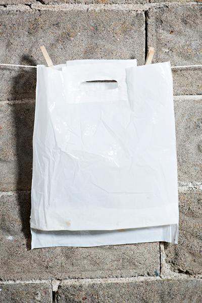 Älä osta mitään -muovipussi