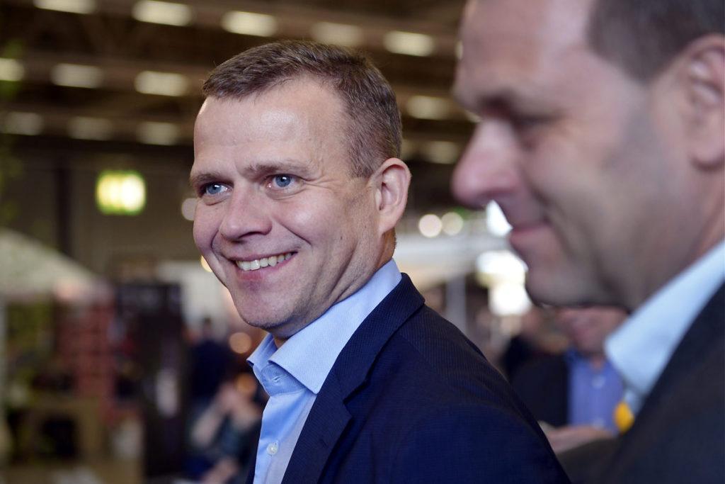 Petteri Orpo ja Jan Vapaavuori huhtikuussa 2017.