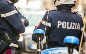 Liikennepoliiseja Italiassa.