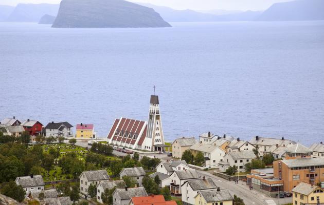 Hammerfest kuuluu Norjan pohjoisimpiin kaupunkeihin.