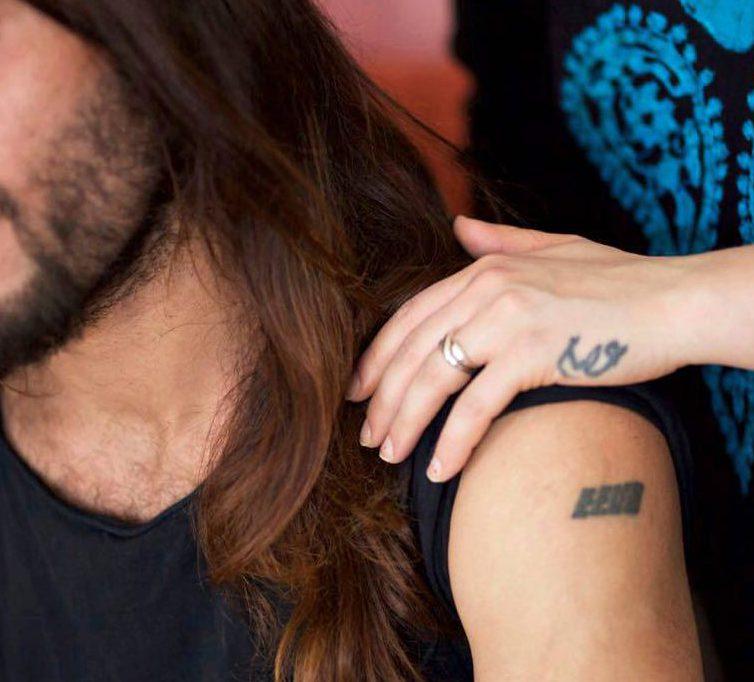 Isam ja Eeva Maria al-Khazaali ovat tatuoineet toistensa nimet ihoonsa.