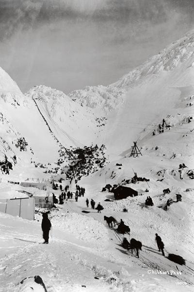 Chilkoot-vuorisolan jyrkkä nousu