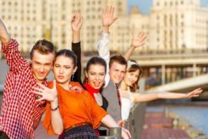 Ystävät kohtasivat Moskovassa.