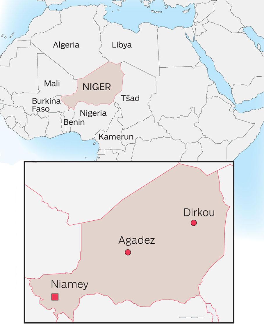 Reitti Nigeristä Saharan läpi Libyaan on pitkä ja vaarallinen. Agadezista Libyan rajalle on vielä tuhat kilometriä.