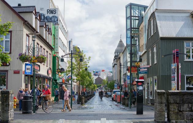 Reykjavikin kaupunkikuvaa kesältä 2017.