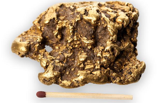 Veljesten löytämä 250 gramman painoinen kultahippu