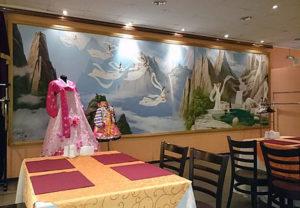 Pohjoiskorealaista ravintolatunnelmaa Moskovassa.