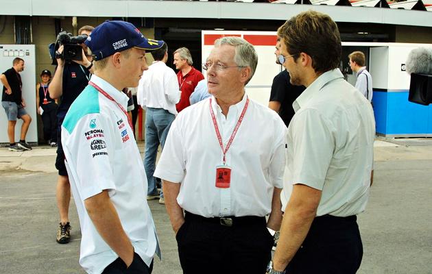 Kimi (vas.) ja David sekä Steve Robertson