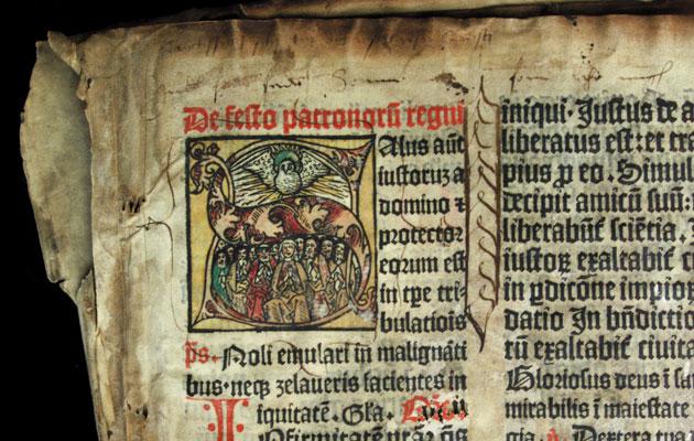 Tekstiä ja kuvitusta Missale Aboensen sivulta