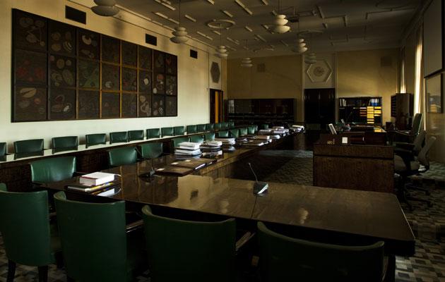 Valiokunnan työtilat eduskunnassa.