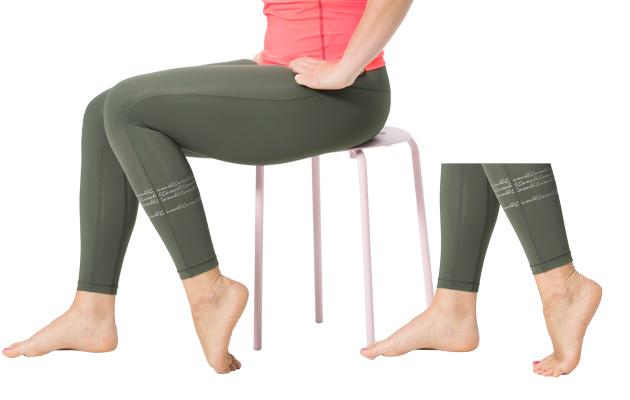 Jalkapöydän ja jalkapohjan venytys
